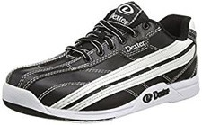 Black and White Dexter Bowling Sneakers