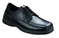Black Formal Orthofeet Gramercy Wide Men's Orthopedic Shoes