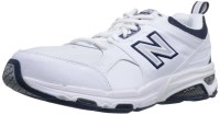 White and Black New Balance Men's MX857 Cross Training Shoes
