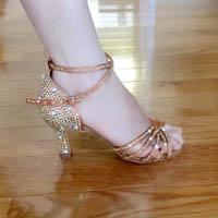 High heel latin dance shoes