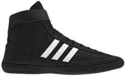 Black and white adidas wrestling sneakers