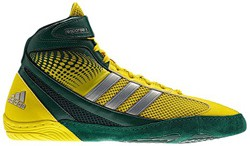 Green and Yellow Adidas Wrestling Men's Response 3.1