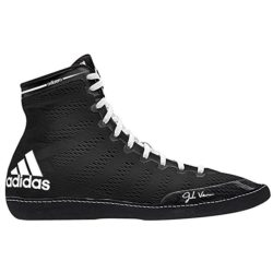 adidas Performance Men's Adizero XIV wrestling shoes in black and white