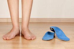 Orthotic inserts for flat feet