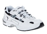 White Leather Vionic Orthaheel Walking Shoes