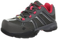 Grey and Pink Nautilus Safety Footwear 1393 Work Shoes
