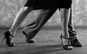 Man and Woman Dancing In Ballroom